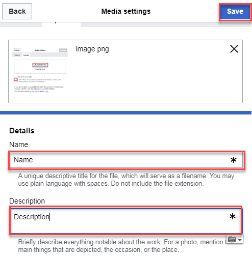 Media settings button details page.png