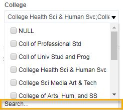 Screenshot of Search function in prompt menu.