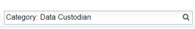 """Category: Data Custodian"" Search Box screenshot"