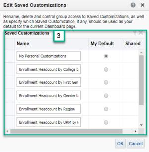 Screenshot of Edit Saved Customizations Box. See accompanying narrative for description.