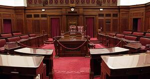 Debating chamber of the House of Assembly